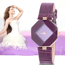 Fashion Crystal Women Watches Minimalist Casual Blue Red Black Purple White Simple for Girls Ladies Quartz Wrist