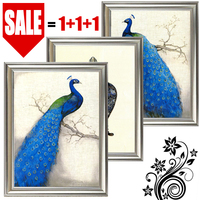 Classic luxury Art Deco painting canvas modern canvas picture peacock painting home decoration bedroom framed canvas painting