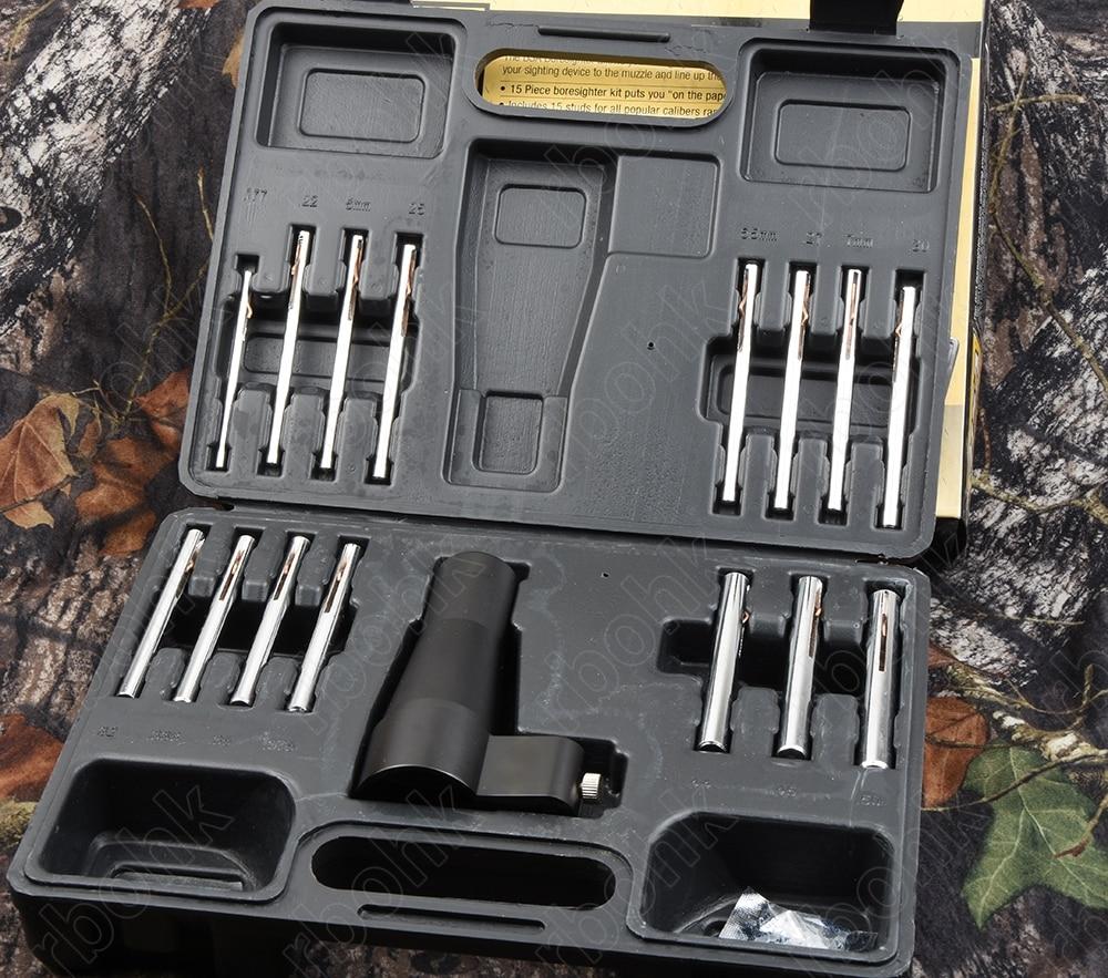 Rifle optics Boresighter scope alignment device for .17-.50 all caliber All metal fabrication hunting shooting R3253 boresighter scope alignment device rifles pistols handguns firearms bore sight kit
