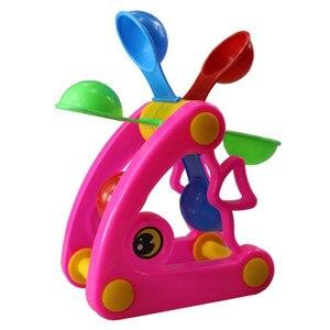 Image 4 - 1 шт., милые ветряные мельницы, водяные колеса, летние игрушки для игры в песочную воду, бассейн для купания, пляжные вечерние игрушки для детей, игрушки для ванной, случайный цвет