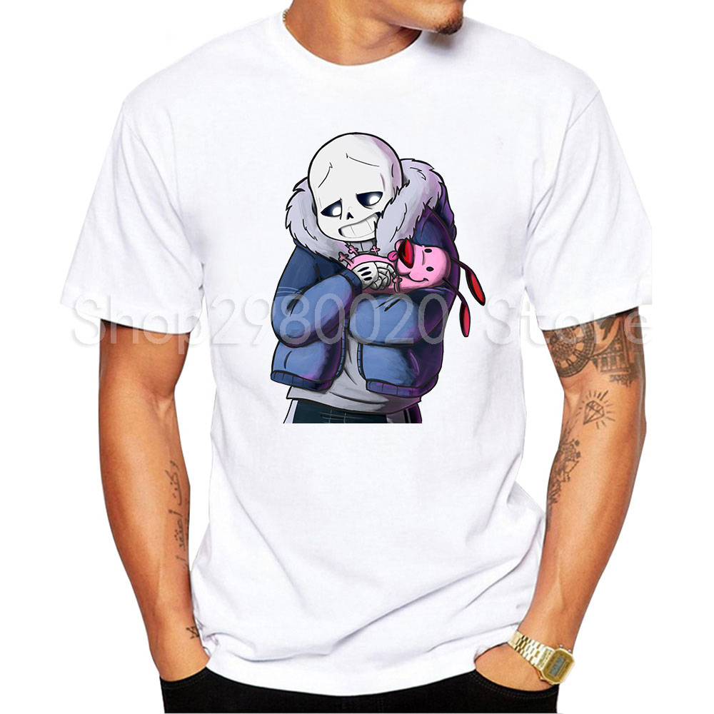 summer brand men t shirt game undertale upside down sans interesting