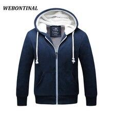 WEBONTINAL Winter Hoodie Male Cardigan 2017 Hombre Brand ZipperThick Sweatshirt Men Hoodies Quality Velvet Hoody Mens Hooded