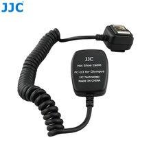 Jjc ttl off câmera flash cabo de sapato quente sincronização cabo de foco remoto de luz para olympus panasonic camera flashes substitui o FL CB05