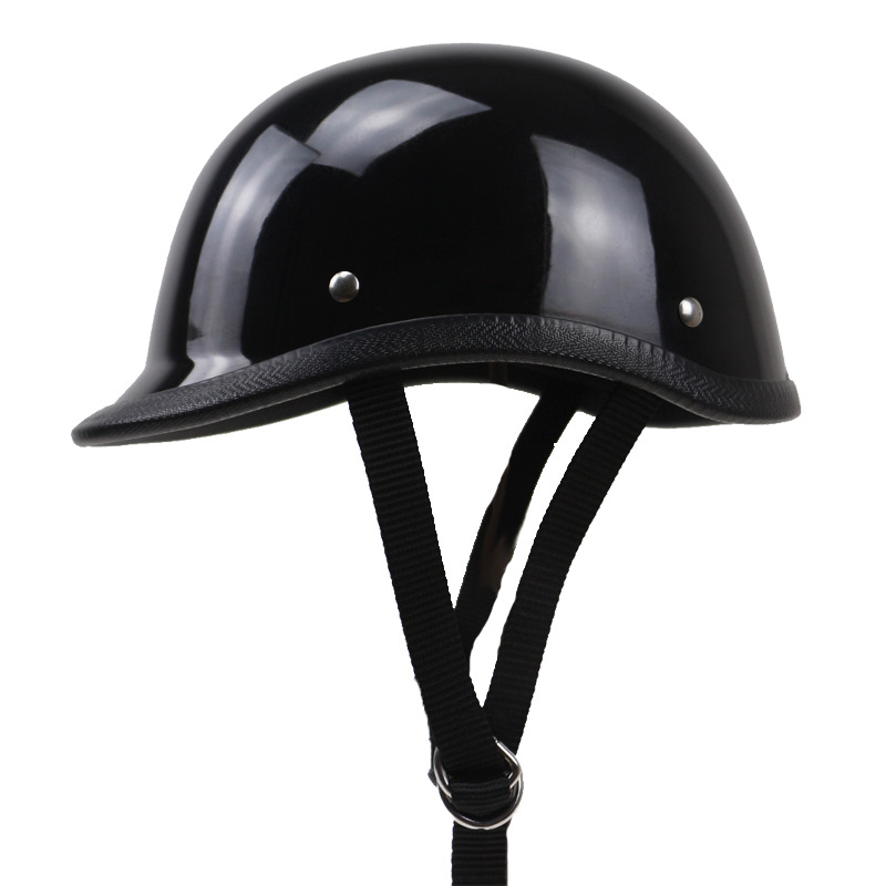 TT CO style half face motorcycle helmet light weight cap style Fiberglass shell DD ring buckle