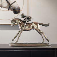 European indoor horse racing room room wine cabinet decoration decoration desk creative bedroom personality home decoration