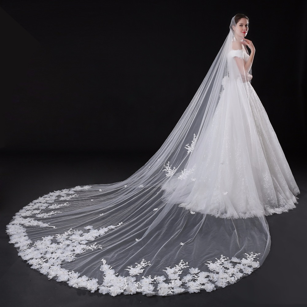 Hochwertige Neues Muster Der Schleier Hochzeitskleid Überlänge ...