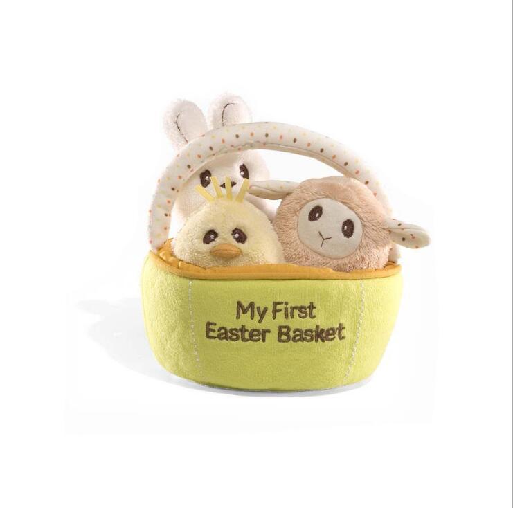 Mini animales de peluche lindos + Canasta de Pascua Niños Juguetes - Peluches y felpa