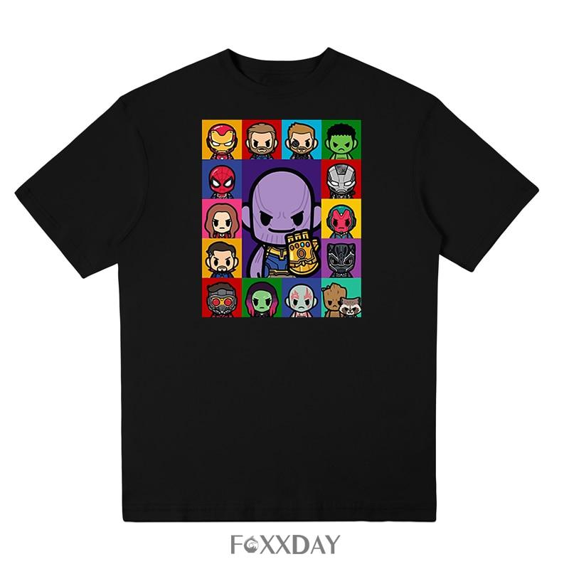 Movie Avengers 3 Infinity T shirt War Superhero T-shirt funny cartoon Thanos Tee shirt Hawkeye Hulk Print Tops Free shipping