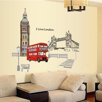Londyn Piętrowy autobus Naklejki ścienne Naklejki Wymienny Creative - Wystrój domu - Zdjęcie 6