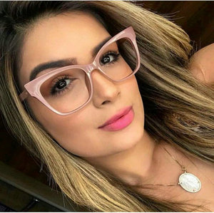 Image 1 - Hot women reading glasses retro big box square cat female fashion optical glasses frame high quality reading glasses NX
