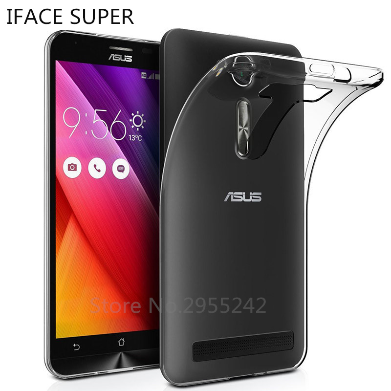Soft Transparent TPU Silicone Back Cover Phone Case For Asus Zenfone <font><b>2</b></font> Laser ZE500KL <font><b>ZE</b></font> ZE500 <font><b>500KL</b></font> ZOOED Z00ED 5.0 inch Case image