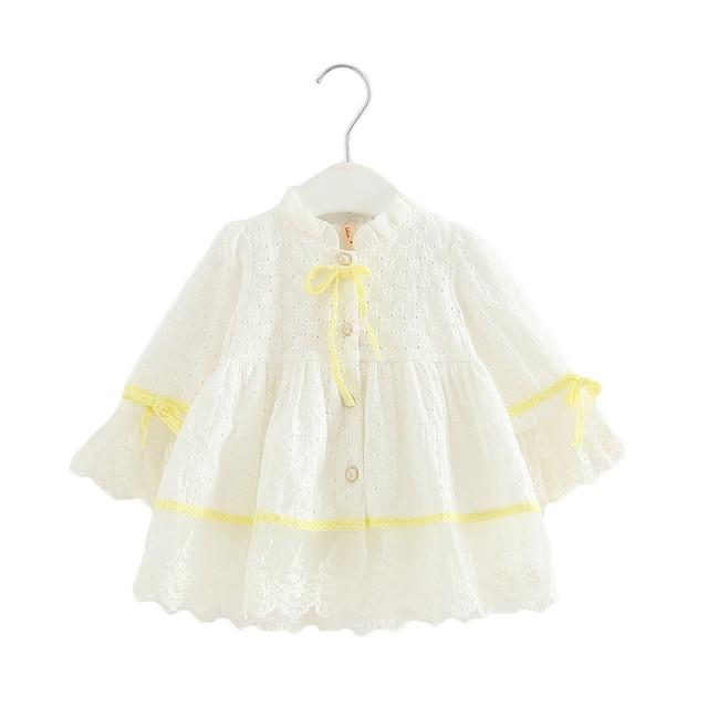 סיטונאי 5 יח'\חבילה תינוקות בנות ארוך שרוול שמלת נסיכת רקמת בגדי ילדי ילדי שמלת מסיבת יום הולדת שמלות 0-2 T