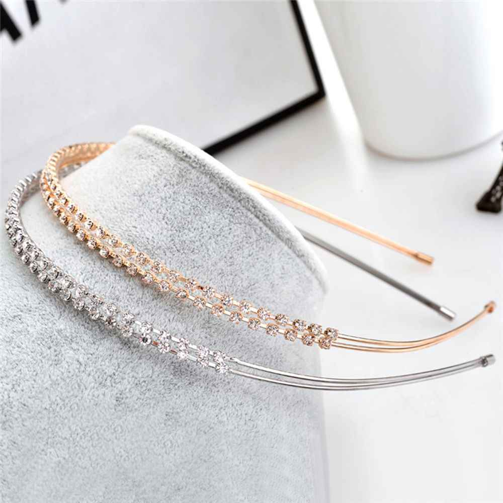New Fashion Crystal Shiny Metal Headband Women Hairband Rhinestone Hair Accessories Girl 1Pc Free Shipping