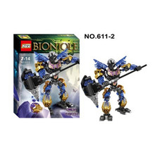 XSZ 611-2 Biochemical Warrior BionicleMask of Light Bionicle Onua Earth Building Block Minifigure Compatible with Legoe Toys