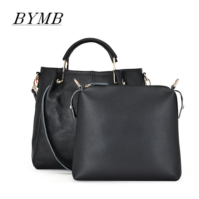 100% Genuine Leather bags Women Big Black Luxury Famous Brand 2017 Women Leather Handbag bolsa feminina bolso,Free shipping