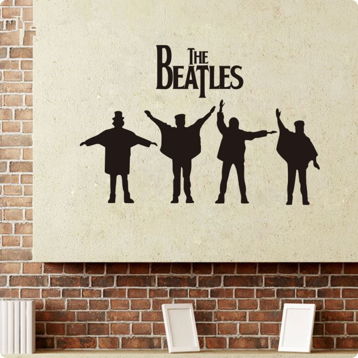 beatles wall decals designs removabl music the beatles vinyl diy wall stickers home decor living - Wall Decals Designs