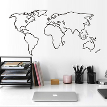 World maps outline promotion shop for promotional world maps outline large world map vinyl wall sticker adhesive removable map outline wall decals home decoration accessories for living room publicscrutiny Images