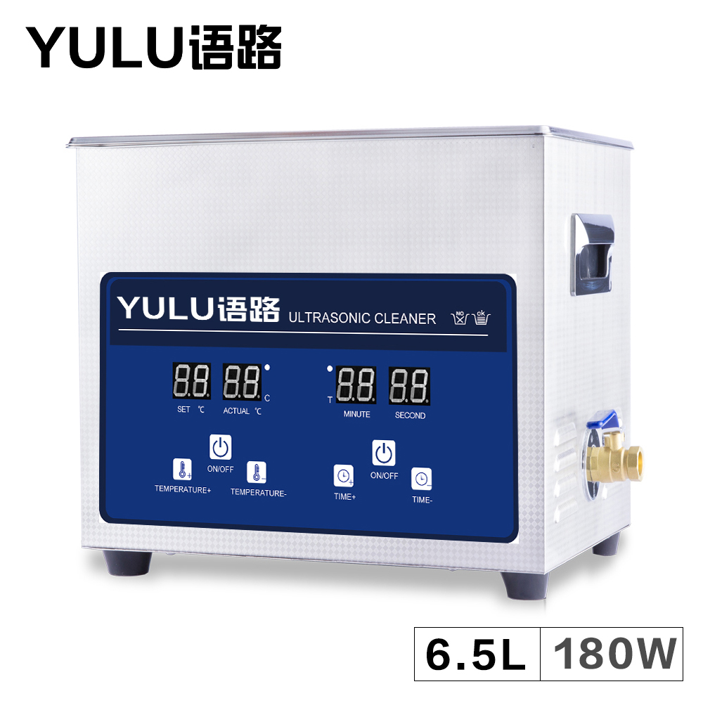 Industry Ultrasonic Parts Cleaner Electronic 6.5L Circuit Board Lab Hardware Glassware Tank Heat Timer Ultrasound Washer Bath цена и фото