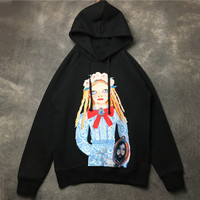 Fashion cartton girl print women hoodies New 2018 spring autumn hoody sweatshirts S484