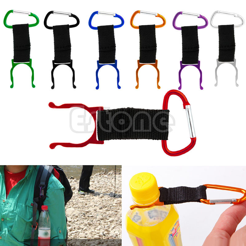 New 10pcs Carabiner Water Bottle Buckle Hook Holder Clip For Camping Hiking Traveling