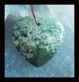 Moss Agate Pendant,39x40x7mm,16.5g