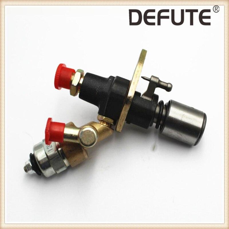 Топливный инжектор насос электрический клапан для 186 FA 186FA 186F дизельный двигатель генератор, 186FA масляный насос электромагнитный клапан - Цвет: pump with Solenoid