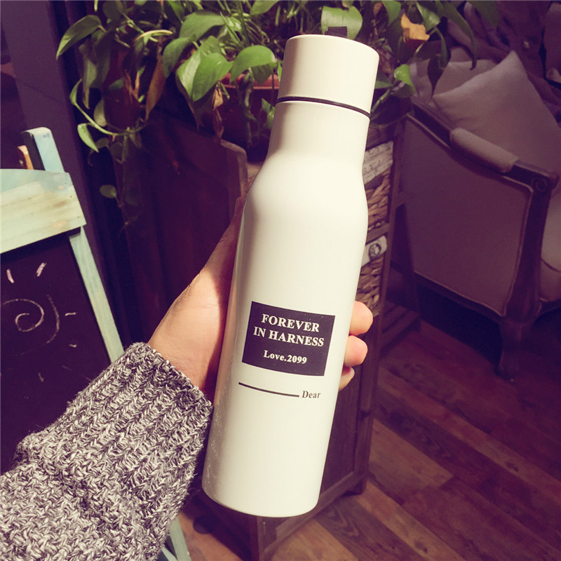 Insulation Cup Leak-Proof Seal Sport Drinking Coffee Portable Travel Sports Vacuum Cups Creative Personality Wine Bottle