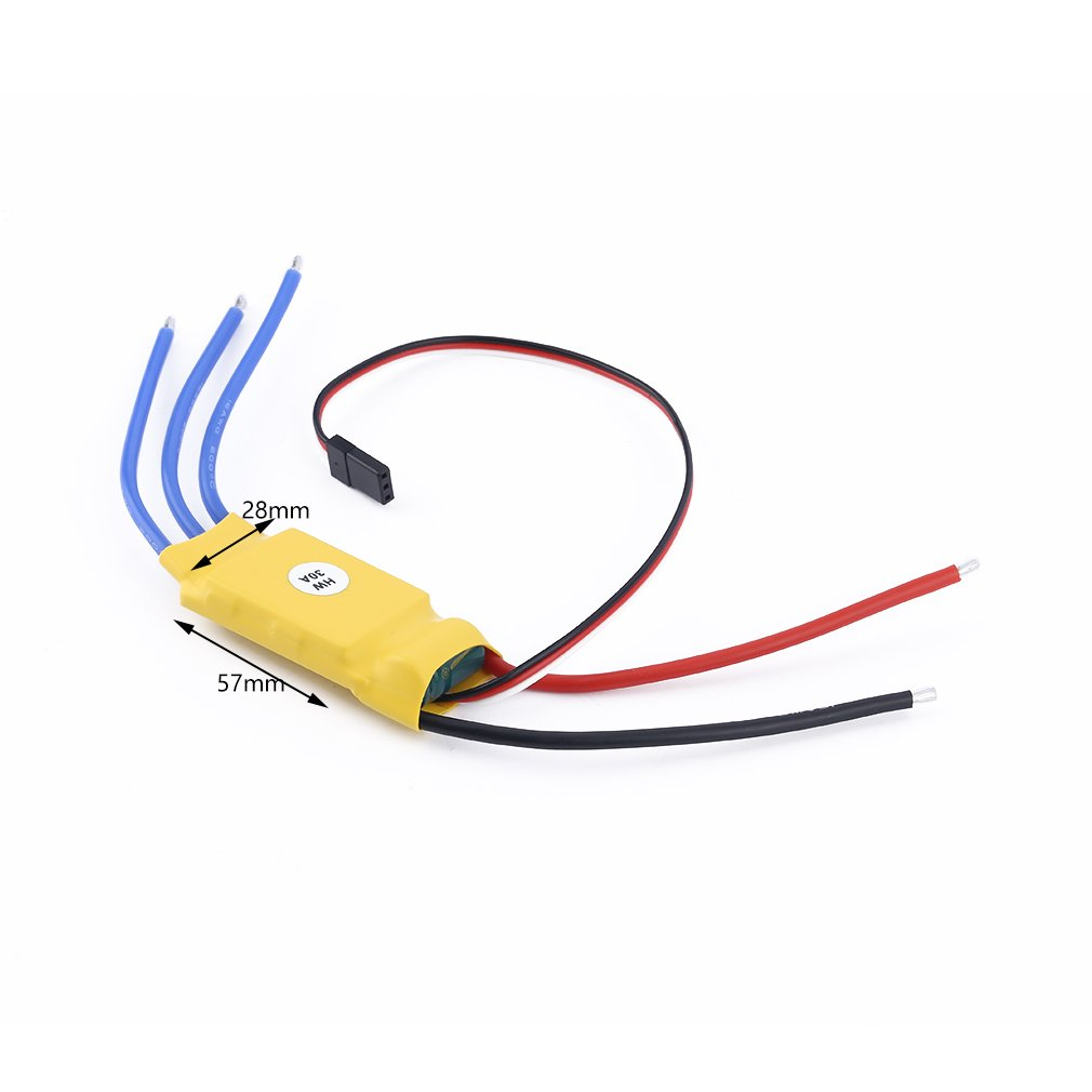 30A Brushless RC BEC ESC Brushless Motor Speed Controller T-rex 450 V2 Helicopter Boat I403 Airplanes Parts & Accessories 3650 3900kv 4p sensorless brushless motor 60a brushless elec speed controller esc w 5 8v 3a switch mode bec for 1 10 rc car