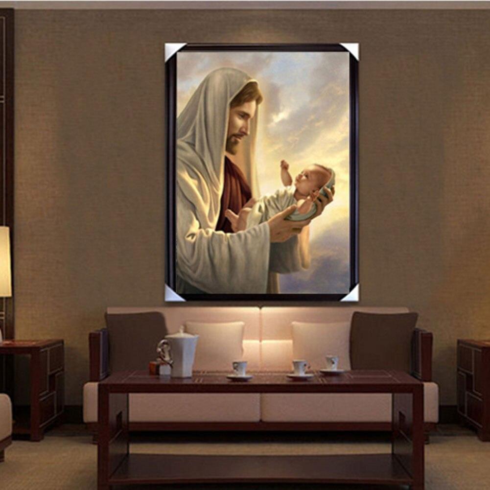 5D отец и сын изображение DIY алмаз вышивка живопись крестом мозаика холст рисунок инструмент J2Y