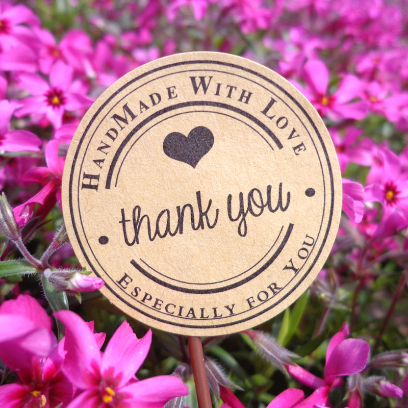Label Sealing-Sticker Craft-Paper Gifts Thank-You Handmade Posted/baking-Decoration