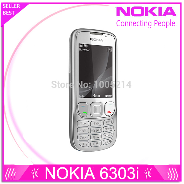 Refurbished Original 6303i Unlocked Nokia 6303 mobile phone black and silver color for you choose Refurbished