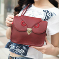 2016 Cute Fashion Vintage Women PU Leather Handbag Cartoon Bag Owl Shoulder Bags Women Messenger Bags as a gift for friend S03