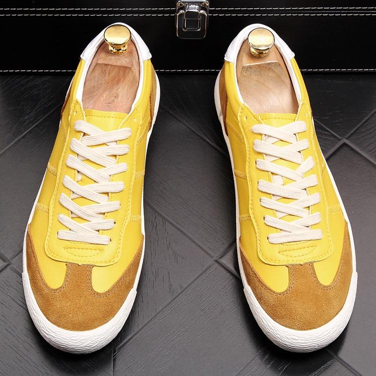 Skate Caminhada 2 Zapatos on Masculina Sapatos Nova Hombre Cores Loafers Slip Homens Misturadas 1 De Confortável Apartamentos Primavera Amarelo Casuais WwwqOHZn
