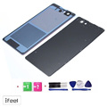 """Compartimento da bateria tampa traseira de vidro da porta traseira para sony xperia z1 compact d5503 z1 mini 4.3 """"com Ferramentas Livres + Frete Grátis"""