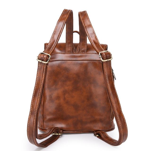 Ladies Fashion Vintage Leather Backpack