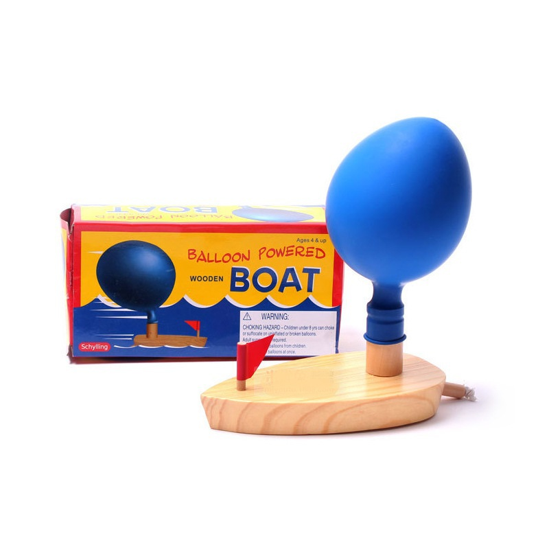 Swimming Pool Wooden Boat with Ball Floating Pool Toy