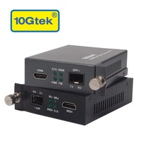 10Gtek a Pair of HDMI to SFP+ Converters for DVD or TV 300m to 80km SFP+ Transceivers for optional
