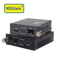 10gtek пара HDMI к SFP + Преобразователи для DVD или ТВ 300 м до 80 км SFP + трансиверы для дополнительного