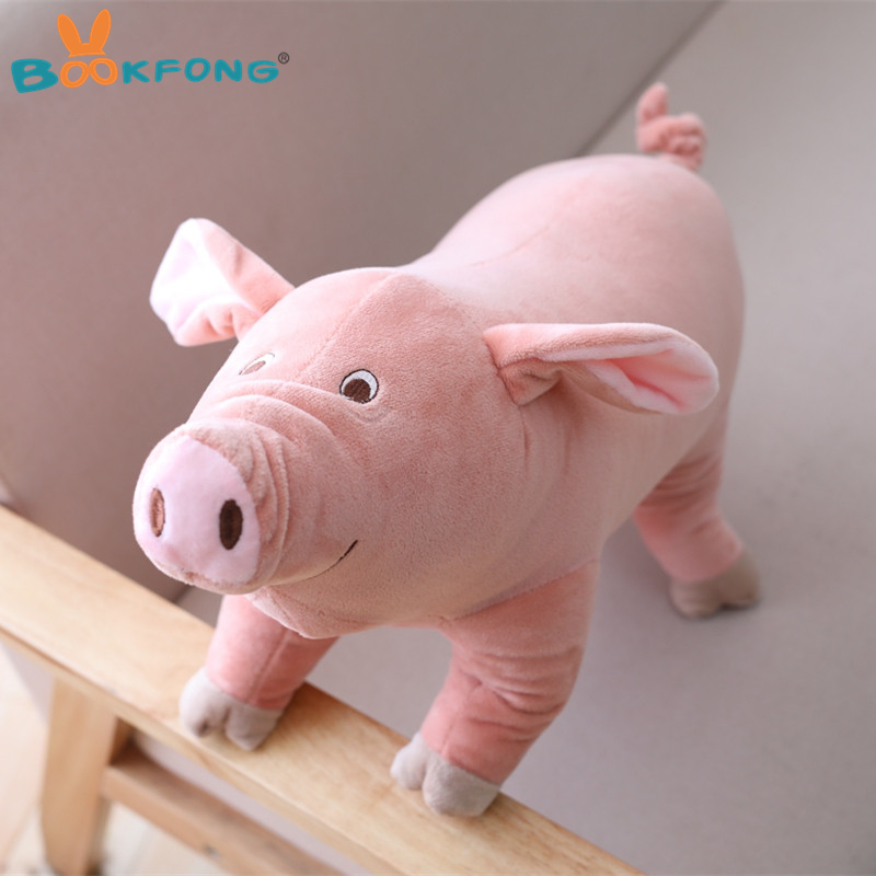25cm Kawaii Cartoon Pig Plush Toy Stuffed Animal Toy Soft Pink Pig Pillow Home Sofa Decor stuffed animal 44 cm plush standing cow toy simulation dairy cattle doll great gift w501