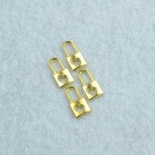 50 pçs ouro cor bloqueio encantos colar pingente pulseira jóias fazendo artesanato artesanal suprimentos diy 16*8mm 1501