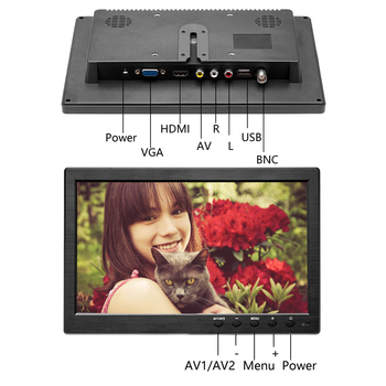 Podofo 10.1″ Car Headrest Monitor Slim Player Full HD Digital TFT LCD Screen Slim Design UV Coating VGA AV USB SD Port