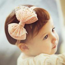 Kids Bow Headband Lace star Flower Elastic Hair band Headwear scrunchy Hair Accessories EASOV W235