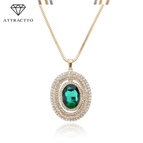 Распродажа модное длинное ожерелье attractto подвеска золотая