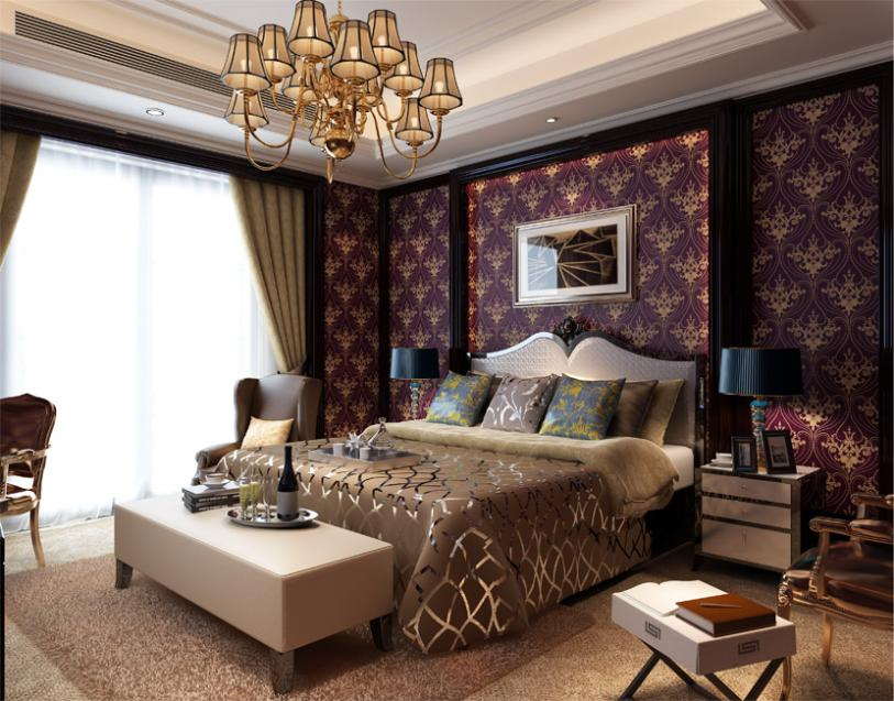 purple and gold bedrooms wallpaper non woven caesar the gold continental 16816