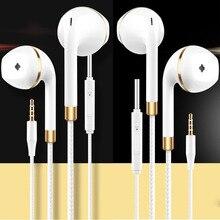 New in-ear earphone for apple iphone 5s 6s 5 xiaomi bass earbud headset Stereo Headphone For Apple Earpod Samsung sony earpiece