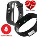 Novo! M2 Inteligente Banda de Frequência Cardíaca Pressão Arterial de Oxigênio Oxímetro de pulso da Frequência Cardíaca desporto pulseira relógio para ios android pk xiaomi mi banda 2