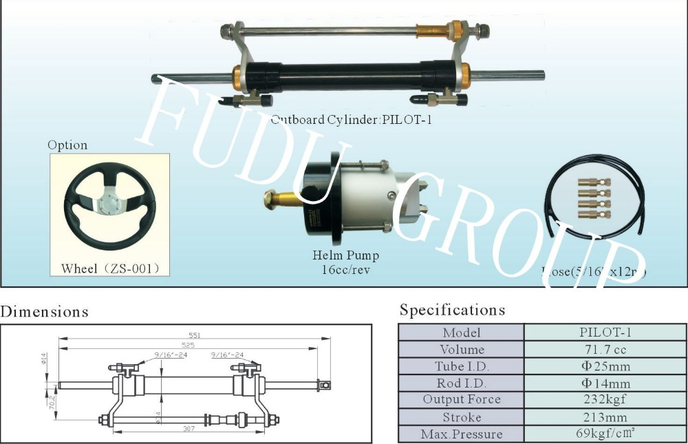 US $306 9  Aliexpress com : Buy Outboard Hydraulic steering system for  engines till 90 HP from Reliable system hydraulic suppliers on FuDu Store
