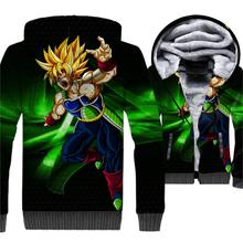 Brand Men Clothes 2018 3D Winter Thick Mens Jacket Harajuku Zip Up Hoodie Streetwear Coat For Dragon Ball Tracksuit Top