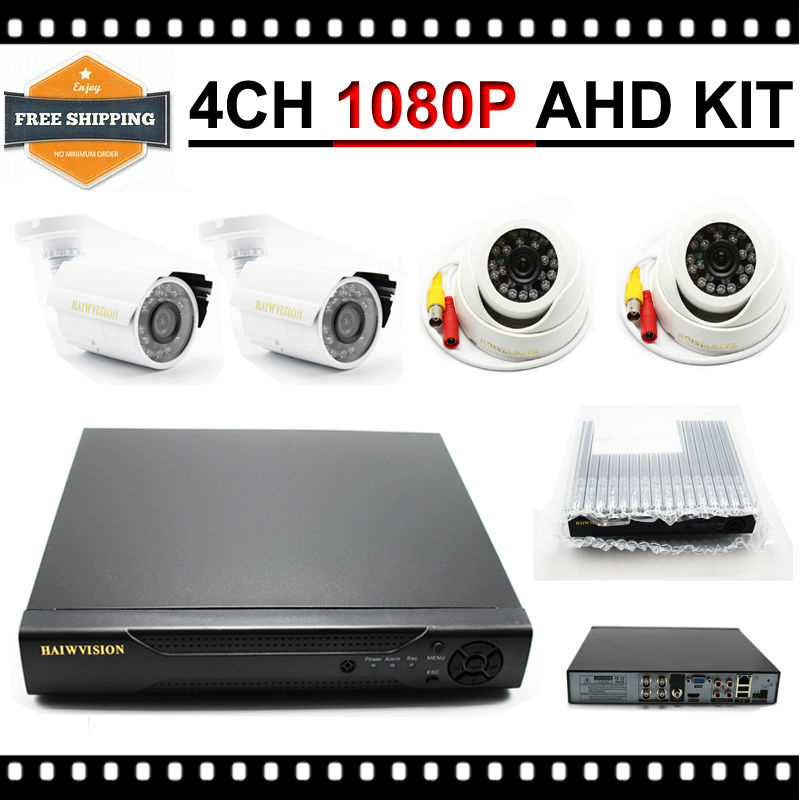 New 4CH CCTV System 1080P HDMI AHD Kamepa 1080N CCTV DVR 4PCS 2.0 MP IR Outdoor Indoor Security Camera Surveillance System 4ch cctv system 1080p hdmi ahd 4ch cctv dvr 4pcs 1 3 mp ir outdoor security camera 960p waterproof camera surveillance system