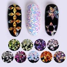 AB Color Chameleon Unicorn Nail Glitter Sequins Triangle Iridescent Flakes Paillettes 3D Nail Art Decoration UV Gel DIY